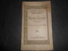 1891 NICOLA MISASI MASTRO GIORGIO NAPOLI LUIGI PIERRO EDITORE 1° EDIZIONE TEATRO