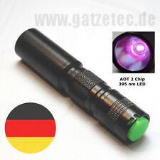 Gatzetec UF C3 UV LED Taschenlampe AOT 2 Chip 395 nm klein-stark #ultrafire 2018