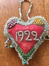 Antique Native American Iroquois Heart Shaped Beaded Whimsey Circa 1922