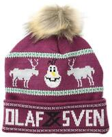 Disney Frozen Olaf Snowman And Sven Red Ugly Christmas Sweater Beanie Winter Hat