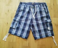 Men's blue checked shorts, size 3XL, SOULCAL & CO, excellent used condition
