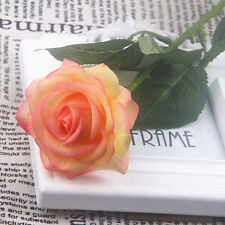 Artificial Real Touch Latex Rose Flower Bridal Wedding Bouquet Home Office Decor