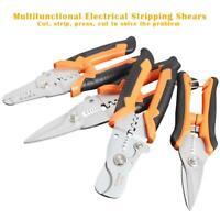 Multi-function Household Scissors Crimping Pliers Wire Stripper Wire Cutter NI5L