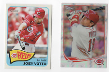 2014 Topps Heritage Joey Votto Action Image Variation + 2013 Chrome Refractor