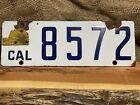 Super RARE 1917 CALIFORNIA POPPY LICENSE PLATE W/ Matching TOPPER PORCELAIN A++