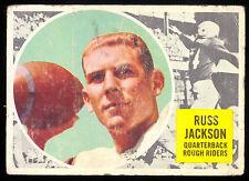1960 TOPPS CFL FOOTBALL #63 RUSS JACKSON VG OTTAWA ROUGH RIDERS McMASTER