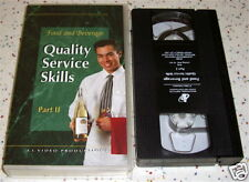 Hospitality Industry VHS Food Beverage Quality Service