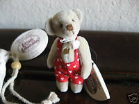 Ganz Cottage Collectibles Miniatures Bear ~ Terry ~ MWT COA and Storage Bag