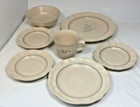 PFALTZGRAFF  REMEMBRANCE STONEWARE lot of 7 Pieces USA value at 70.66