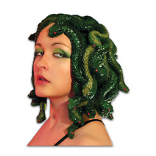Medusa Wig Womens Costume Hat Adult Mask Green Greek Snake Halloween Gift