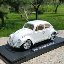 Volkswagen Beetle 1973 Model Cars 1:18 Toys Alloy Diecast Gifts In Box White New