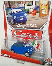 DISNEY PIXAR CARS 2014 NEW SERIES RACE FANS BLUE ALBERTO #9 OF 9 NEW! HTF!