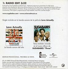 "SUGABABES ""TOO LOST IN YOU"" SPANISH PROMO CD SINGLE / LOVE ACTUALLY SOUNDTRACK"