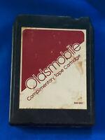 1978 Oldsmobile Car Advertising Dealership 8 Track Tape Complimentary Cartridge