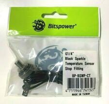 "NEW Bitspower G1/4"" Temperature Sensor Stop Fitting ""Black Sparkle"" BP-BSWP-CT"
