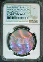 2006 CANADA $20 - PENGROWTH SADDLEDOME - NGC PF69 UC /w BOX - SILVER COIN