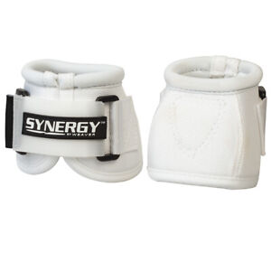 Weaver Horse Bell Boots Synergy Extended Life White U-6-10