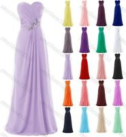 Long Chiffon Evening Formal Party Ball Gown Prom Bridesmaid Stock Dress 6-22
