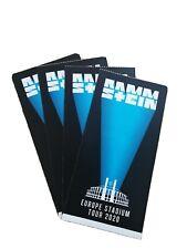 Rammstein Ticket Karte Tallinn Europe Stadium Tour 2021