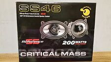 CRITICAL MASS AUDIO SS46 GM 4X6 SPEAKERS BEST DASH SOUND COAXIAL COMPONENT USA