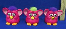 Set 3 McDonalds Happy Meal 1998 Toys Furby Furbies Hot Pink Wheels Moving