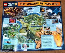 LEGO NEXO KNIGHTS Fold-Out POSTER MAP new