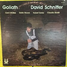 DAVID SCHNITTER Goliath 1978 Muse VG+ LP Jazz w/ Cecil McBee
