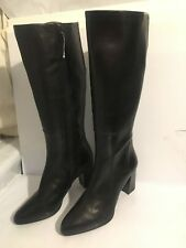 Clarks size 7.5 E leather knee high black ladies womens boots shoes kadri Ariana