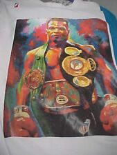 IRON MIKE TYSON Color Photo Wearing All Belts Men Pullover Shirt XL Post Game