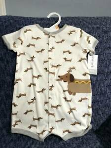 Carter's one-piece baby romper supports Dachshund Rescue – size 18 months