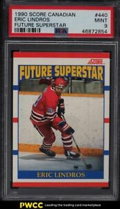 1990 Score Canadian Future Superstar Eric Lindros ROOKIE RC #440 PSA 9 MINT