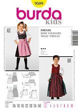 burda Schnittmuster / pattern  9509 Dirndl / Robe Folklore, EU 104-140 / US 4-10
