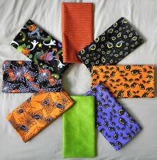 "Single Yard Cuts (36""x42"") in Halloween Patterns, 100% Cotton Fabric, New"