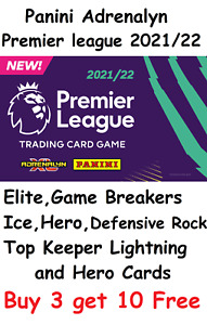 Panini Premier league Adrenalyn XL 2021/22 Foil cards Elite Hero Top Keeper Ice