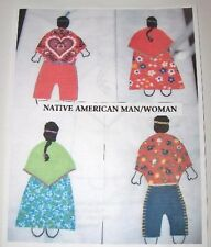Vintage Quilt Pattern As copied In the style of Native American Man and Woman