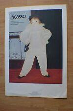 PICASSO   Paul en Pierrot ~ 781/5000 Limited Edition 1980 Color Lithograph20x30