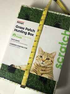 For Cat Grass Patch Hunting Play Box Jingle Ball Petstages Faux Grass