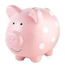 Pearhead Ceramic Pink Piggy Bank, Makes a Perfect Unique Gift, Nursery Décor, Ke