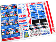 EXXON GASOLINE STATION STICKERS for MODELS, TOYS, Lego 1255 1256 6375 7993 ,ETC