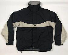 HELLY HANSEN Mens Rain Jacket Medium Grey Nylon Zip Pockets Stretch Coat