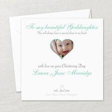 Personalised Handmade Christening Baptism Naming Photo Card Godson Goddaughter