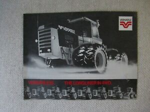 Versatile 1150 tractor specification sheet brochure