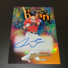 2020 Topps Finest Jake Bauers The Man Auto Cleveland Indians Orange Parallel /25