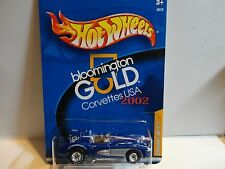 Hot Wheels Bloomington Gold Blue Corvette SR2 w/Real Riders