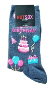 HOT SOX Happy Birthday socks for women,  cake, balloons NEW WITH TAG