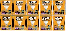 10 X JCB 3w = 35w LED GU10 100deg 6500k Daylight 250lm[Energy Class A+]