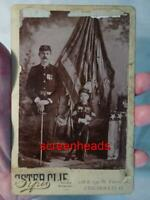 RARE CIVIL WAR VETERAN AND SON CABINET CARD PHOTO VG Crisp image CINCINNATI OHIO