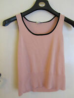 Pink & Black Stretch Vest Top by Planet in Size 12