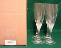 Cristal D'Arques GRANVILLE Champagne Flutes SET OF FOUR Mint in BOX More Avail