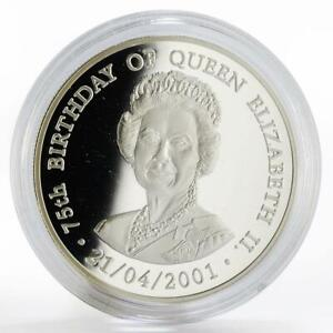 Zambia 1000 kwacha 75th Birthday of Queen Elizabeth II proof silver coin 2001